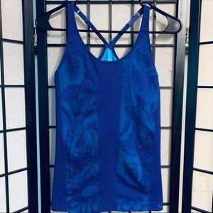 Clima wear purple blue seamless tank top sz L